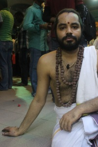 One of the priests at Sri Veeramakaliamman.