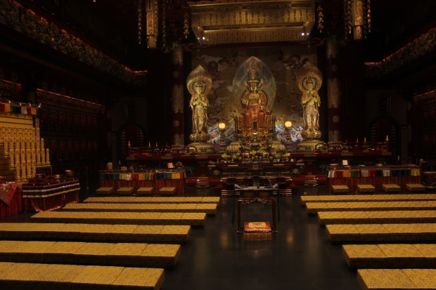 The Buddha Tooth Relic Temple and Museum in the Chinatown section of Singapore. The tooth of Buddha is said to be housed here.