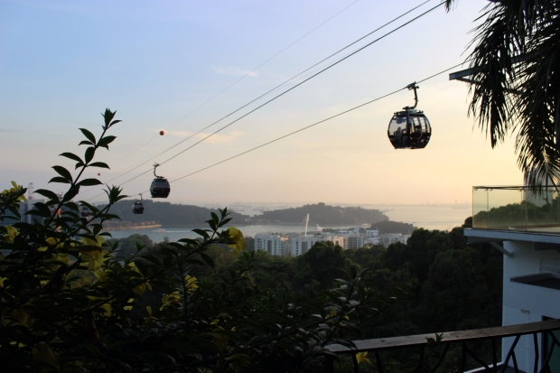 Mount Faber's cable cars that offer a quick trip over to Singapore's Sentosa Island.