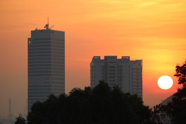 Sundown in Singapore.
