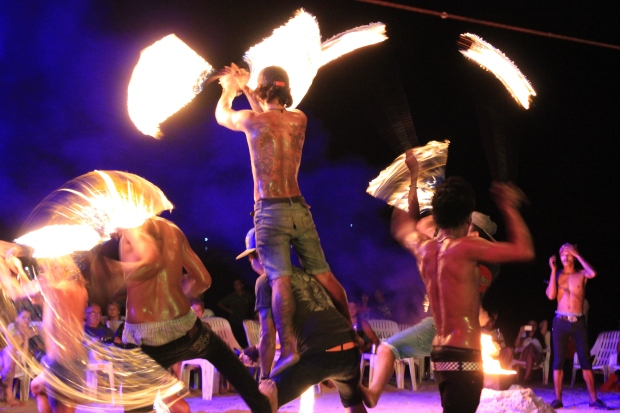The fire dancers of Phi Phi Island.
