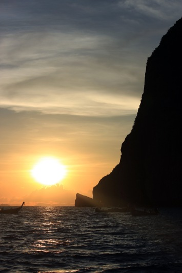 A seductive sunset off the coast of Phi Phi.
