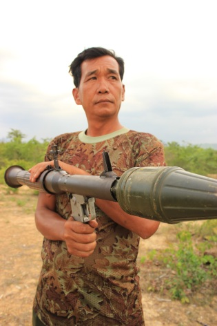 Serious rocket launching in Cambodia.
