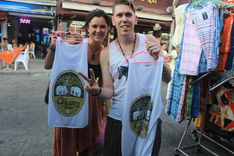 We LOVE Chang — so much that we bought shirts of the number one brew out of Thailand.