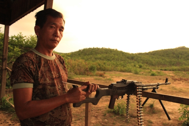 "One of the ex-military Cambodians running this firing range. When I asked him his name he replied, ""Number Two."" I wish that was a joke."