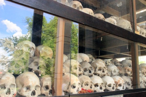 Thousands of human skulls are a testament to the sheer brutality of the Khmer Rouge's ruthless rule from 1975-1979.