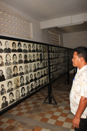 Run looks on at the thousands of victims imprisoned & tortured at the S-21 prison near the Killing Fields.