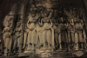 Out of all the images from Angkor, these remain the most iconic in my memory. The aspura dancers were carved everywhere.