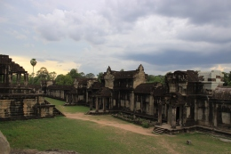 A wide angle of Angkor Wat.