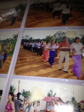 A Cambodian wedding procession. This photo wasn't from the wedding I was in attendance of but gives an idea what some of the other rituals that comprise this sacred tradition.