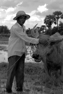 This rural farmer outside Siem Reap tends to his flock of livestock & later offers up homemade wine, which turned out to be extremely potent.