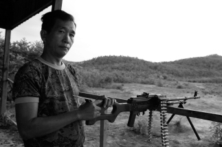 A firing range in Cambodia where you can shoot everything from rocket launchers to machine guns.