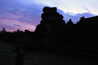 4 a.m. photo shoot. Entrance to Angkor Wat.