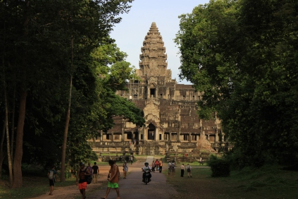 Leaving Angkor Wat for Ta Prohm.