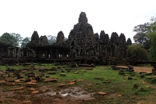 Approaching Angkor Thom.