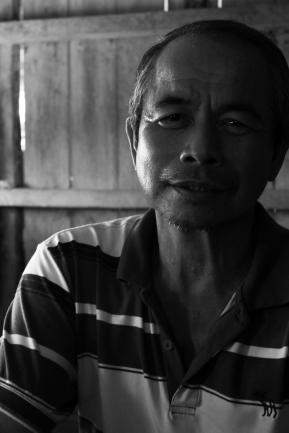 """When I came here in 1986, life was very different. We had to work very hard to get water or electricity. All our lives have been changed by the new water source."" -Jason Bin Aling in Balud Batu, Malaysia."