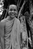 This Buddhist monk in Siem Reap was a young, cheerful guy.