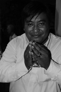 I met this jovial character at a Cambodian wedding in the winding alleys of Phnom Penh.