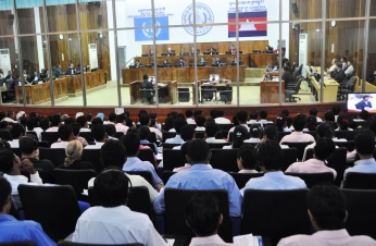 The Extraordinary Chambers in the Courts of Cambodia in Phnom Penh during a hearing of Khmer Rouge prison guard Him Huy in 2009.