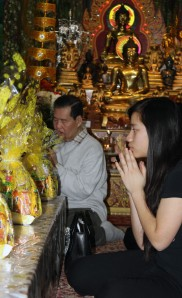 Sok is one of the Khmer Buddhist Society's few young followers.