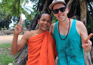 One of the many characters I met in my Southeast Asian travels, this funky monk was all smiles. Siem Reap, Cambodia.